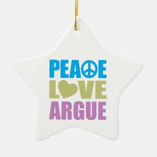 Peace Love Argue Christmas Ornament