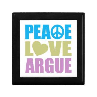 Peace Love Argue Small Square Gift Box