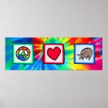 Peace, Love, Armadillos Poster