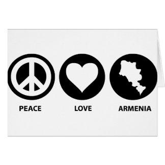 Peace Love Armenia Card