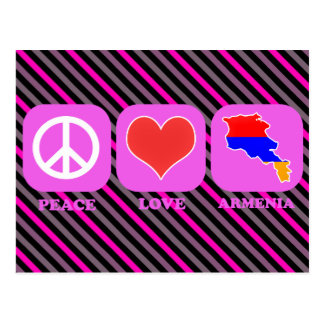 Peace Love Armenia Postcard