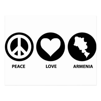Peace Love Armenia Postcard