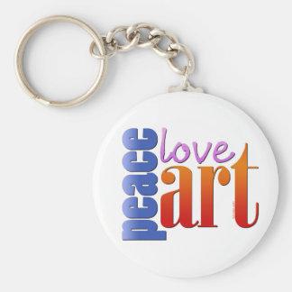 Peace Love Art II Keychain