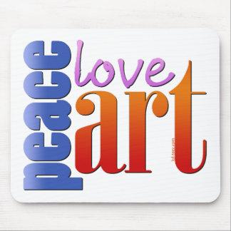 Peace Love Art II Mouse Pad