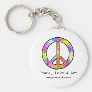 Peace, Love & Art Keychain