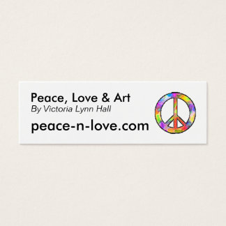 Peace, Love & Art Promotional Mini Business Card