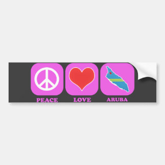 Peace Love Aruba Bumper Sticker