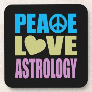 Peace Love Astrology Beverage Coaster