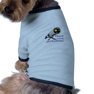 PEACE LOVE ASTRONOMY DOG T-SHIRT