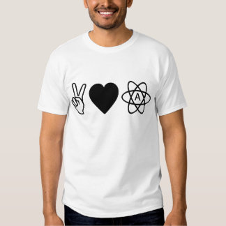 Peace Love Atheism Shirts