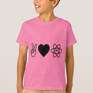 Peace Love Atheism T-Shirt