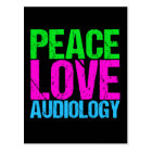 Peace Love Audiology Postcard
