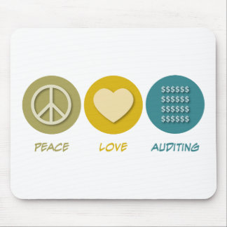 Peace Love Auditing Mouse Pads