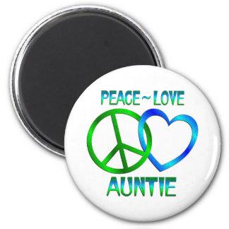 Peace Love Auntie Magnet