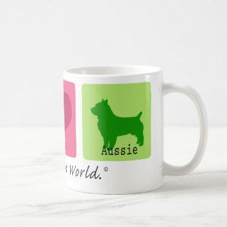 Peace Love Aussie Basic White Mug
