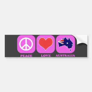 Peace Love Australia Bumper Stickers