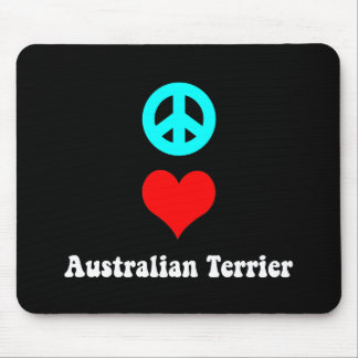 peace love australian terrier mouse pad