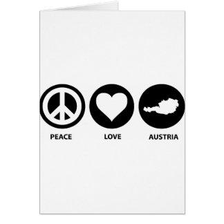 Peace Love Austria Greeting Card