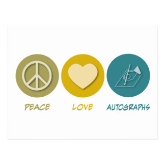 Peace Love Autographs Post Cards