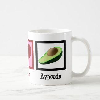 Peace Love Avocado Basic White Mug