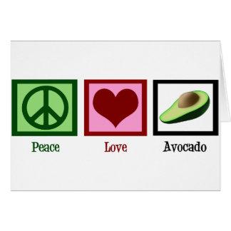 Peace Love Avocado Card