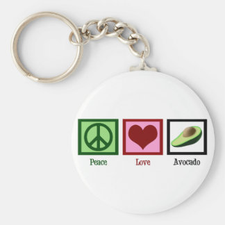 Peace Love Avocado Key Ring