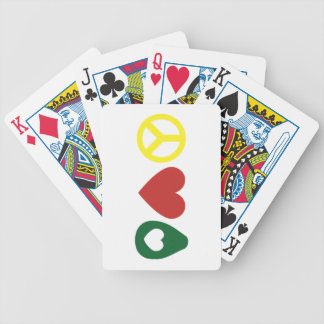 Peace, Love Avocado Playing Cards