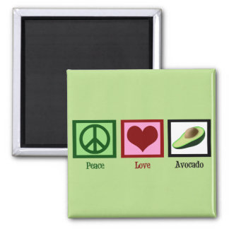 Peace Love Avocados Square Magnet