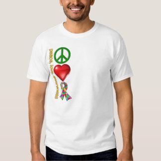 Peace Love Awareness T-shirts