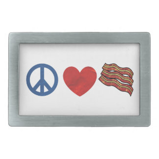 Peace Love Bacon Belt Buckle