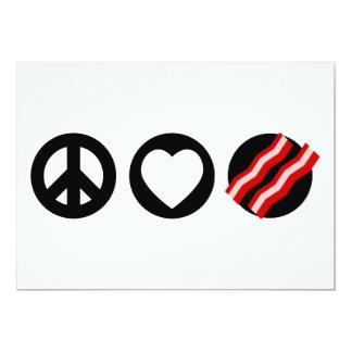 Peace Love Bacon Card