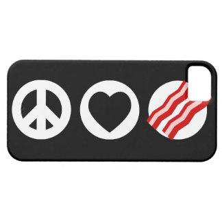 Peace Love Bacon iPhone 5 Case