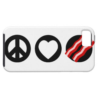 Peace Love Bacon iPhone 5 Cover