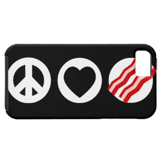 Peace Love Bacon Case For The iPhone 5