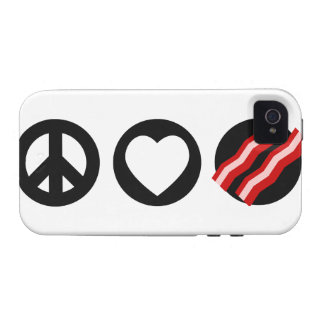 Peace Love Bacon Case-Mate iPhone 4 Covers