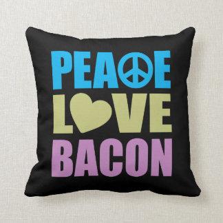 Peace Love Bacon Cushion