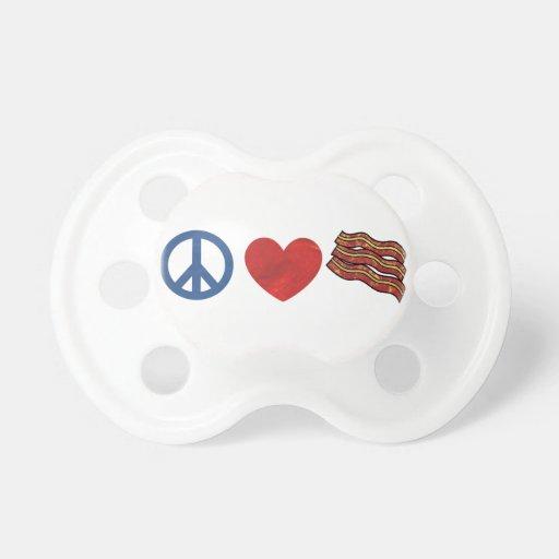 Peace Love Bacon Pacifier