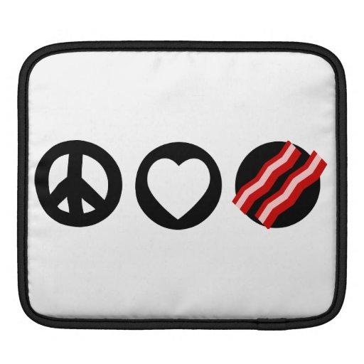 Peace Love Bacon iPad Sleeves