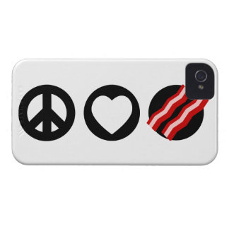 Peace Love Bacon iPhone 4 Cases