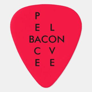Peace Love Bacon Rocks Guitar Picks
