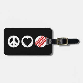 Peace Love Bacon Tags For Bags