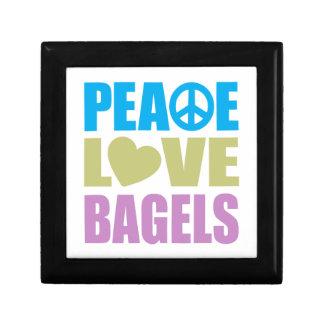 Peace Love Bagels Jewelry Box