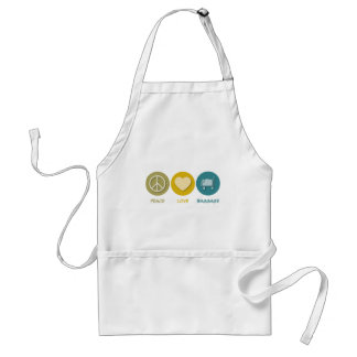 Peace Love Baggage Standard Apron