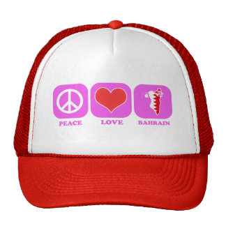 Peace Love Bahrain Cap