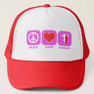 Peace Love Bahrain Trucker Hat