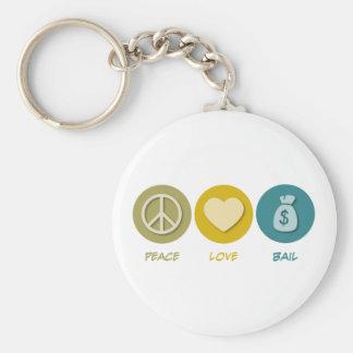 Peace Love Bail Keychain