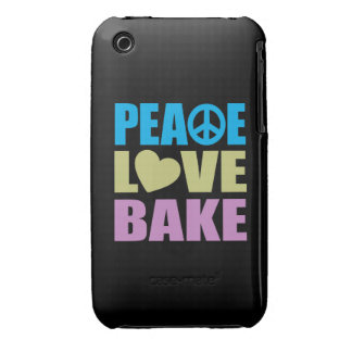 Peace Love Bake iPhone 3 Case-Mate Cases