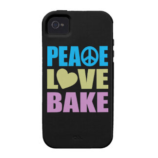 Peace Love Bake Case-Mate iPhone 4 Cases