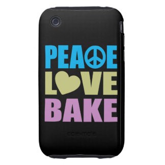Peace Love Bake Tough iPhone 3 Cover