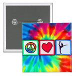 Peace, Love, Ballet 15 Cm Square Badge